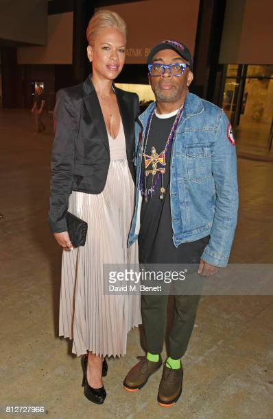 Spike Lee and Tonya Lewis Lee attend the opening of the 'Soul Of A Nation Art In The Age of Black Power' exhibition at the Tate Modern on July 11...