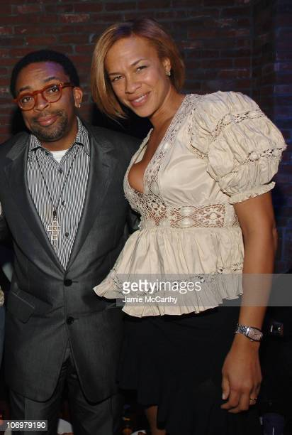 Spike Lee and Tonya Lewis Lee during The Crown Royal Playboy Club on Derby Eve Hosted by The 2006 Playboy Playmate of The Year at Felt Nightclub in...