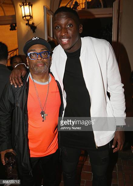 Spike Lee and Victor Oladipo attend An Intimate Evening With Michael Jordan And Neymar Jr on June 1 2016 in New York City