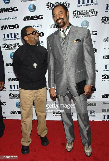 "Spike Lee and Walt Frazier during ""The 50 Greatest Moments At Madison Square Garden"" New York Screening - January 18, 2007 at The Club Bar & Grill in..."