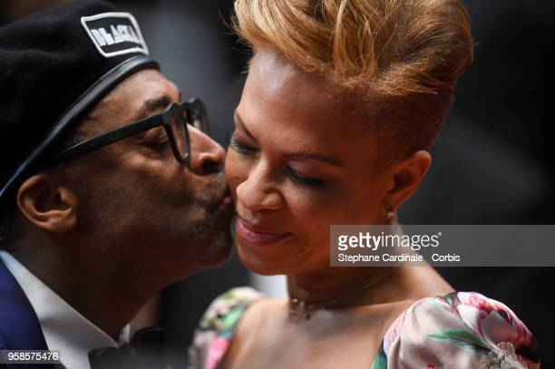 Spike Lee and wife Cassie Howarth attends the screening of The House That Jack Built during the 71st annual Cannes Film Festival at Palais des...