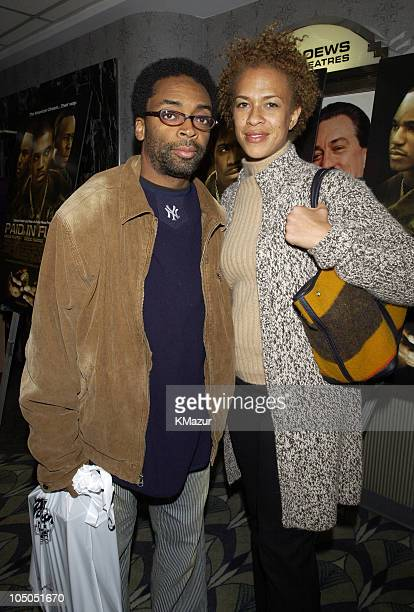 Spike Lee and wife during Paid In Full Premiere New York at Loews 19th Street East Theather in New York City New York United States