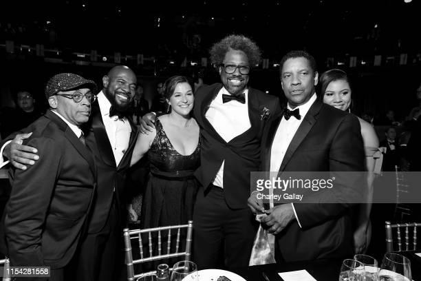 Spike Lee Antoine Fuqua Melissa Bell W Kamau Bell and Denzel Washington attend the 47th AFI Life Achievement Award honoring Denzel Washington at...