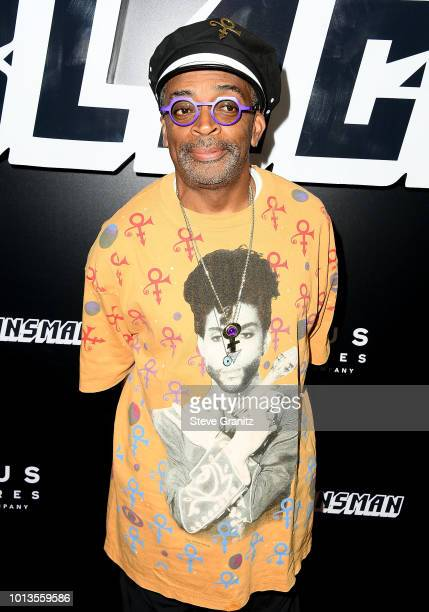 Spike Lee arrives at the Premiere Of Focus Features' BlacKkKlansman at Samuel Goldwyn Theater on August 8 2018 in Beverly Hills California