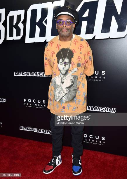Spike Lee arrives at the premiere of Focus Features' 'BlacKkKlansman' at Samuel Goldwyn Theater on August 8 2018 in Beverly Hills California