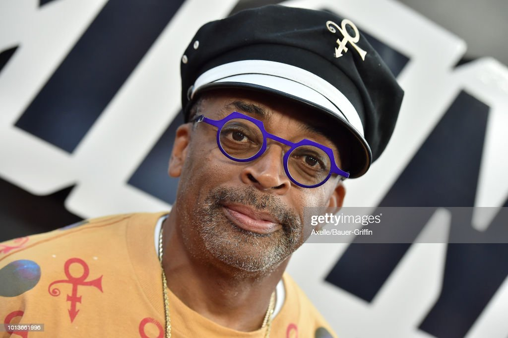 Spike Lee arrives at the premiere of Focus Features' 'BlacKkKlansman' at Samuel Goldwyn Theater on August 8, 2018 in Beverly Hills, California.