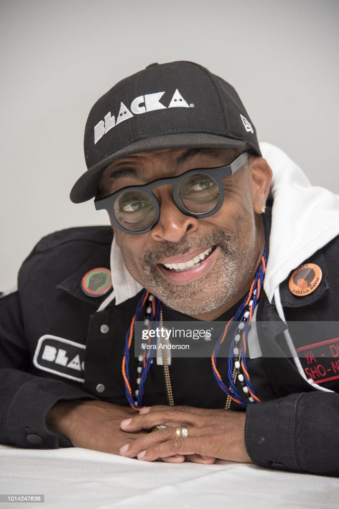 Spike Lee at the 'BlacKkKlansman' Press Conference at the Four Seasons Hotel on August 8, 2018 in Beverly Hills, California.