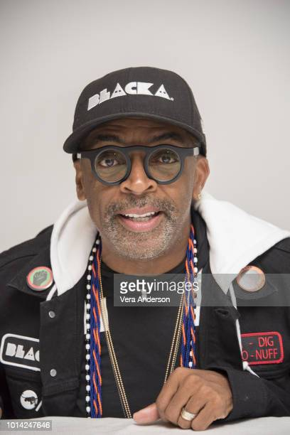 Spike Lee at the BlacKkKlansman Press Conference at the Four Seasons Hotel on August 8 2018 in Beverly Hills California