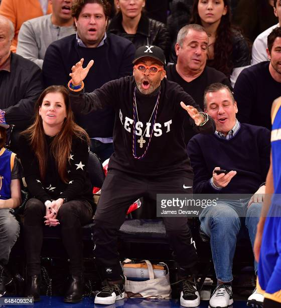 Spike Lee attends Golden State Warriors Vs New York Knicks game at Madison Square Garden on March 5 2017 in New York City