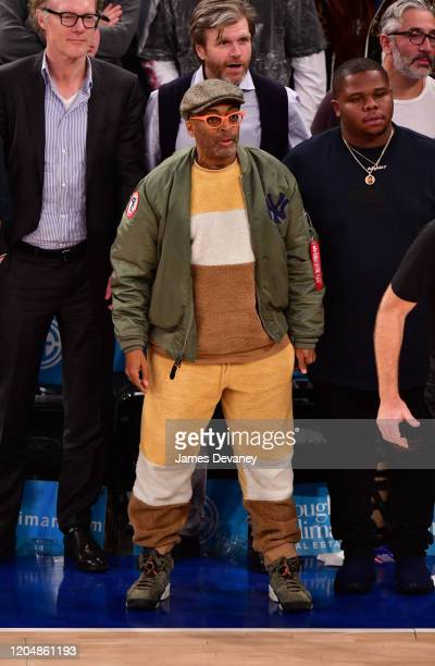 Spike Lee attends Houston Rockets v New York Knicks at Madison Square Garden on March 2, 2020 in New York City.