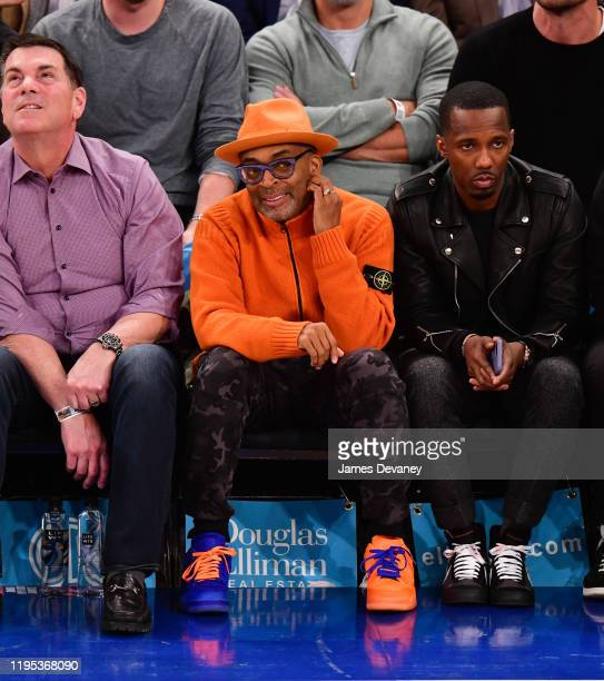 Spike Lee attends Los Angeles Lakers v New York Knicks game at Madison Square Garden on January 22, 2020 in New York City.