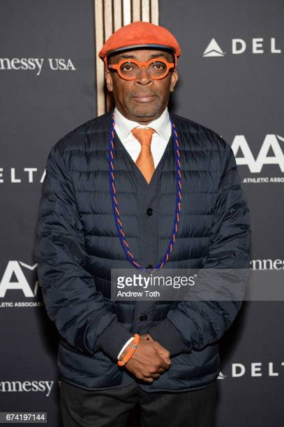 Spike Lee attends the 2017 Jesse Owens International Athlete Trophy Gala at Jazz at Lincoln Center on April 27 2017 in New York City