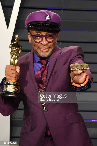 Spike Lee attends the 2019 Vanity Fair Oscar Party hosted by Radhika Jones at Wallis Annenberg Center for the Performing Arts on February 24, 2019 in...