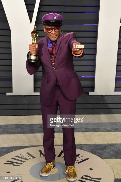 Spike Lee attends the 2019 Vanity Fair Oscar Party hosted by Radhika Jones at Wallis Annenberg Center for the Performing Arts on February 24 2019 in...