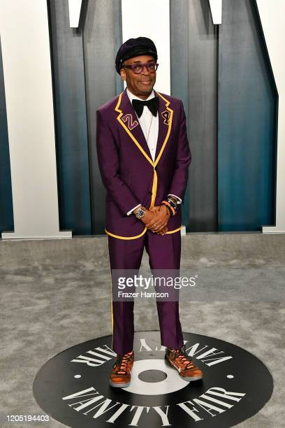 Spike Lee attends the 2020 Vanity Fair Oscar Party hosted by Radhika Jones at Wallis Annenberg Center for the Performing Arts on February 09, 2020 in...