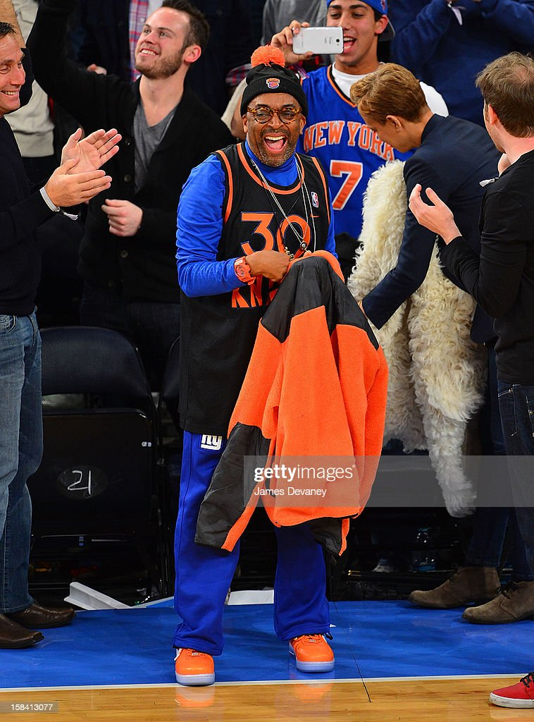 Spike Lee attends the Cleveland Cavaliers vs New York Knicks game at Madison Square Garden on December 15, 2012 in New York City.