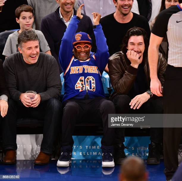 Spike Lee attends the Denver Nuggets Vs New York Knicks game at Madison Square Garden on October 30 2017 in New York City