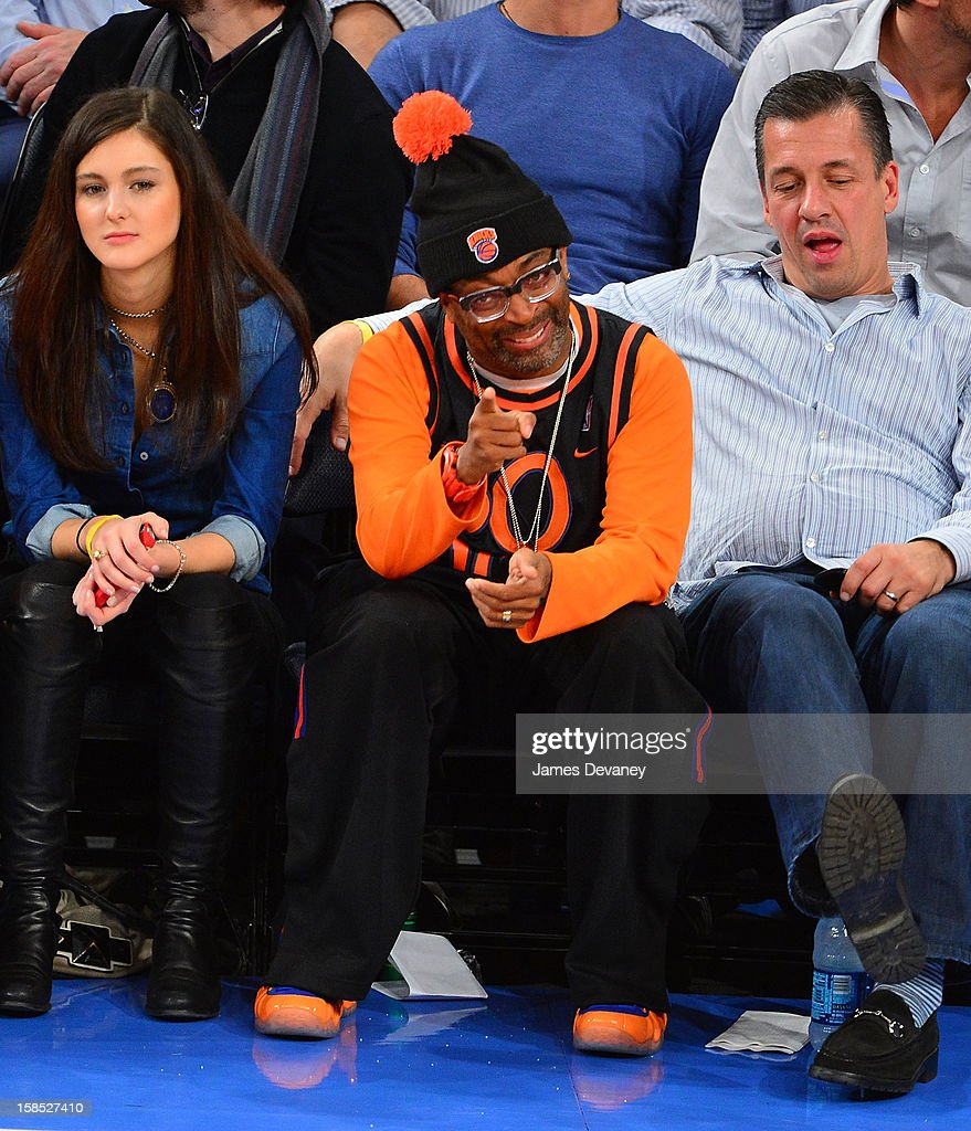 Spike Lee attends the Houston Rockets vs New York Knicks game at Madison Square Garden on December 17, 2012 in New York City.