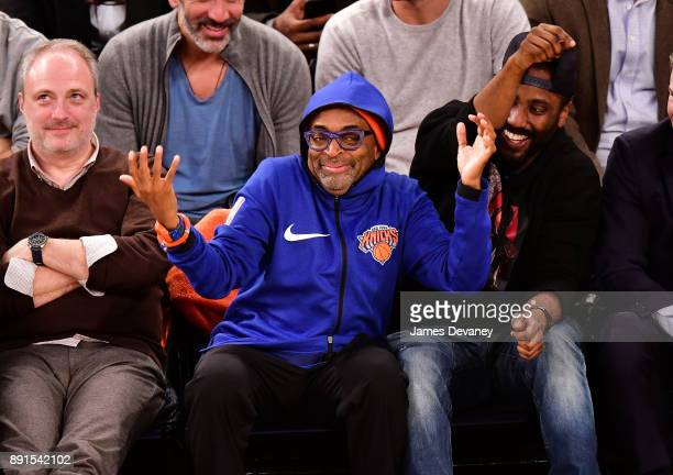 Spike Lee attends the Los Angeles Lakers Vs New York Knicks game at Madison Square Garden on December 12 2017 in New York City