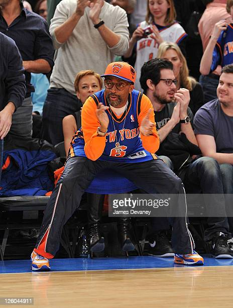 Spike Lee attends the Miami Heat vs New York Knicks game at Madison Square Garden on December 17 2010 in New York City