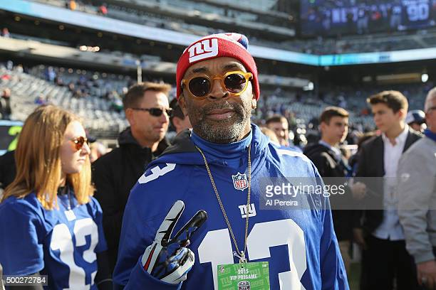 Spike Lee attends the New York Jets at New York Giants game at MetLife Stadium on December 6 2015 in East Rutherford New Jersey