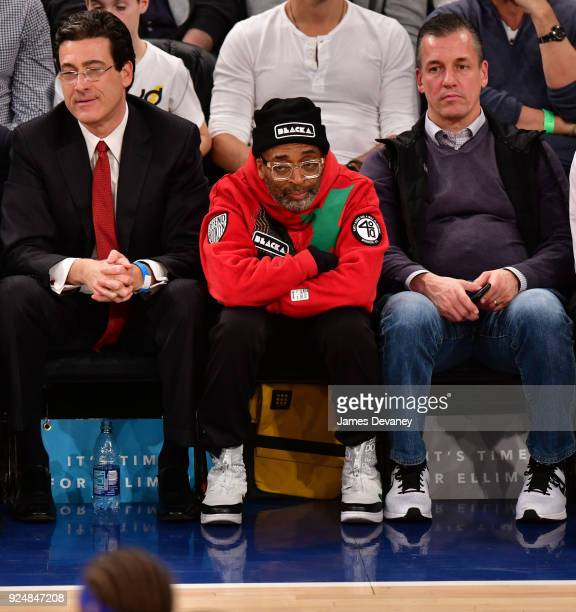 Spike Lee attends the New York Knicks Vs Golden State Warriors game at Madison Square Garden on February 26 2018 in New York City