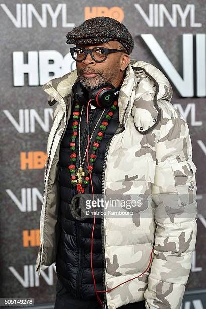 Spike Lee attends the New York premiere of 'Vinyl' at Ziegfeld Theatre on January 15 2016 in New York City