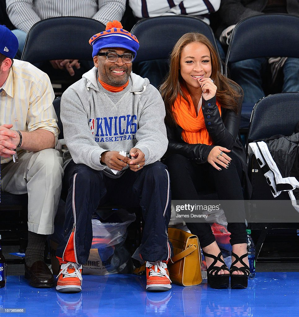 Spike Lee attends the Phoenix Suns vs New York Knicks game at Madison Square Garden on December 2, 2012 in New York City.