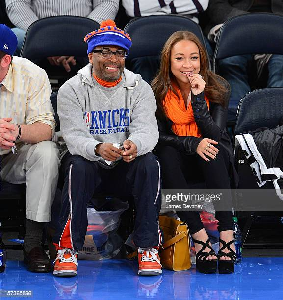 Spike Lee attends the Phoenix Suns vs New York Knicks game at Madison Square Garden on December 2 2012 in New York City