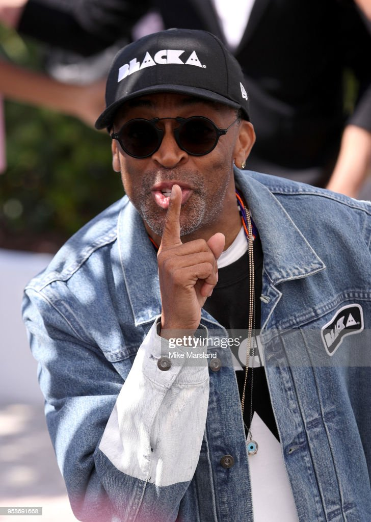 Spike Lee attends the photocall for the 'BlacKkKlansman' during the 71st annual Cannes Film Festival at Palais des Festivals on May 15, 2018 in Cannes, France.