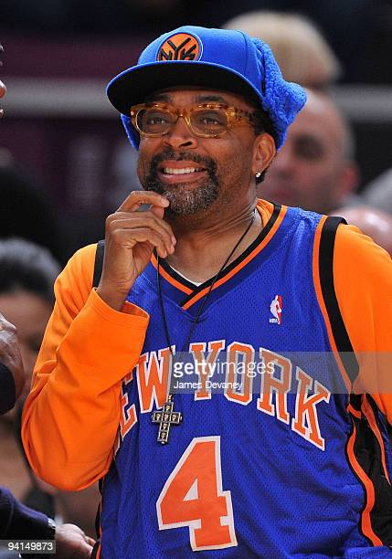 Spike Lee attends the Portland Trailblazers Vs New York Knicks game at Madison Square Garden on December 7 2009 in New York City