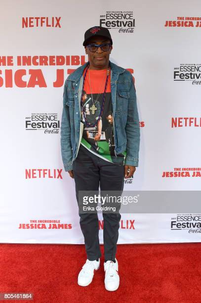 Spike Lee attends the Premiere Of Netflix Original Film 'The Incredible Jessica James' At The 2017 Essence Festival on July 1 2017 in New Orleans...