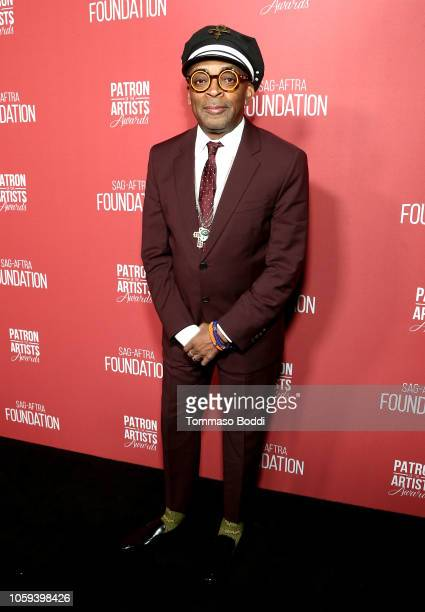 Spike Lee attends the SAGAFTRA Foundation's 3rd Annual Patron of the Artists Awards at the Wallis Annenberg Center for the Performing Arts on...
