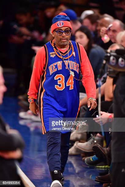 Spike Lee attends the San Antonio Spurs Vs New York Knicks game at Madison Square Garden on February 12 2017 in New York City