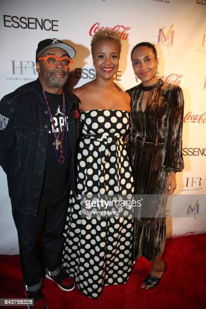 Spike Lee Brandice Daniel and Chioma Nnadi Attend Harlem's Fashion Row at La Marina Restaurant Bar Beach Lounge on September 6 2017 in New York City