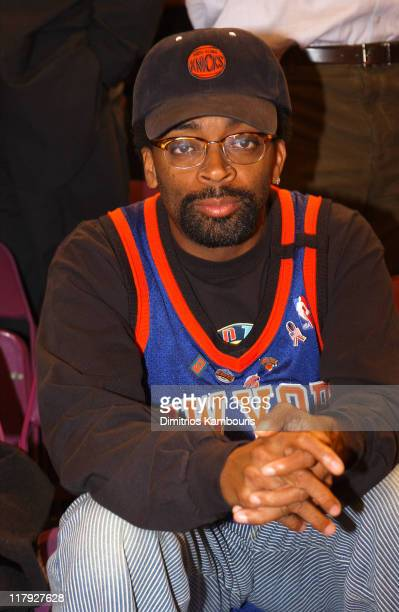 Spike Lee during New York Knicks vs Sacramento Kings Courtside at Madison Square Garden in New York City New York United States