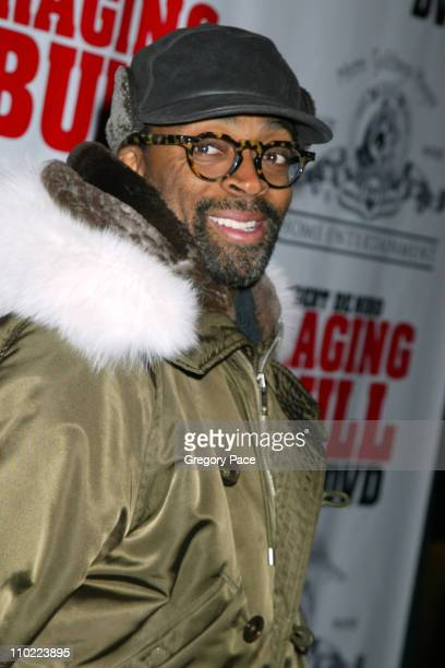 Spike Lee during 'Raging Bull' 25th Anniversary and Collector's Edition DVD Release Celebration Inside Arrivals at Ziegfeld Theater in New York City...