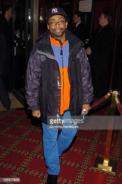 """Spike Lee during """"The Life Aquatic with Steve Zissou"""" New York Premiere - Inside Arrivals at Ziegfeld Theater in New York City, New York, United..."""