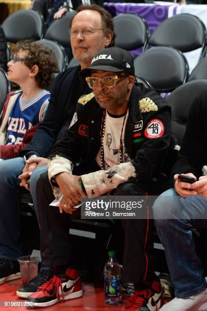 Spike Lee enjoys the Taco Bell Skills Challenge during State Farm AllStar Saturday Night as part of the 2018 NBA AllStar Weekend on February 17 2018...