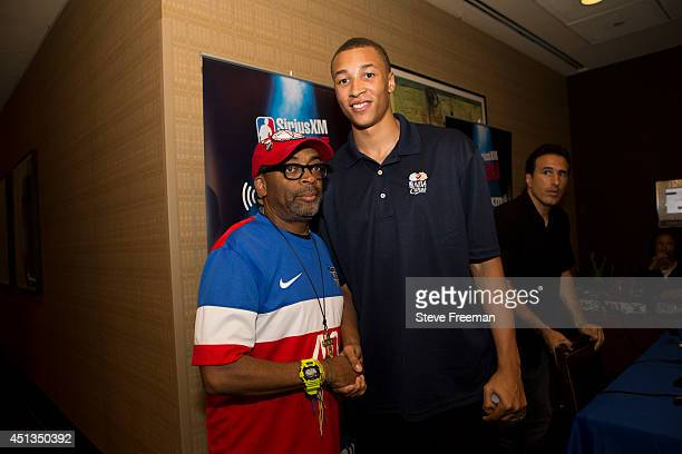 Spike Lee interviews 2014 NBA Draftee Dante Exum pre draft on Sirius Radio on June 25 2014 at Westin Times Square in New York New York NOTE TO USER...