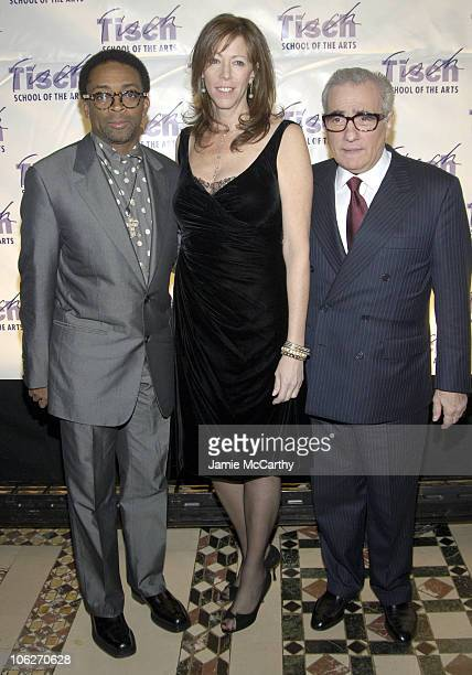 Spike Lee Jane Rosenthal and Martin Scorsese during 'On Location' A Gala Evening Benefiting NYU's Tisch School at Cipriani's in New York City New...