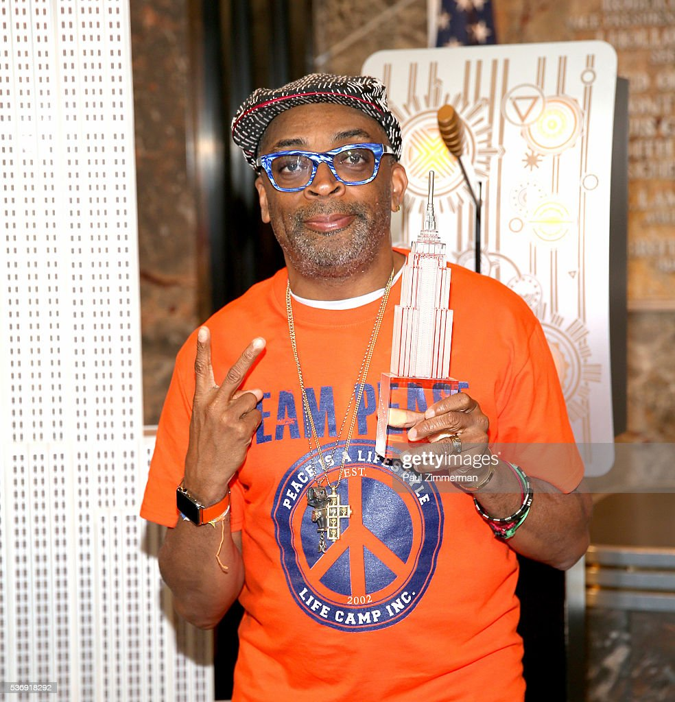 Spike Lee Lights The Empire State Building In Recognition Of National Gun Violence Awareness Month