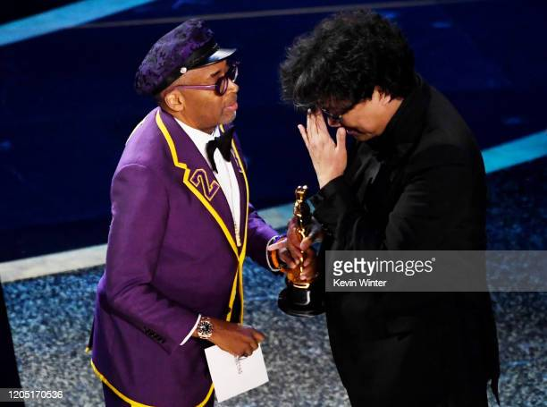 Spike Lee presents the Directing award to Bong Joonho for 'Parasite' onstage during the 92nd Annual Academy Awards at Dolby Theatre on February 09...