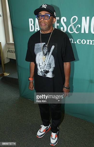 Spike Lee promotes the 'She's Gotta Have It' Notebook at Barnes Noble Union Square on August 4 2016 in New York City