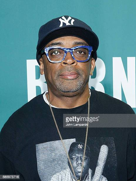 Spike Lee signs copies of the 'She's Gotta Have It' Notebook at Barnes Noble Union Square on August 4 2016 in New York City