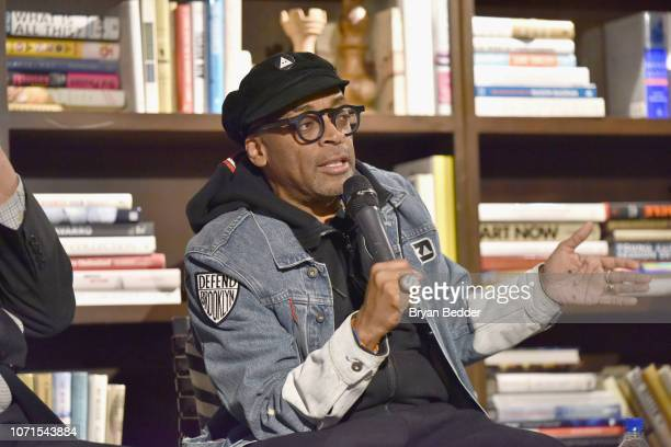 Spike Lee speaks during the BlacKkKlansman Tastemaker at Neuehouse on December 10 2018 in New York City