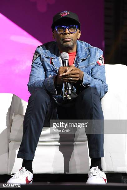 Spike Lee speaks onstage at the 2017 ESSENCE Festival presented by CocaCola at Ernest N Morial Convention Center on July 1 2017 in New Orleans...