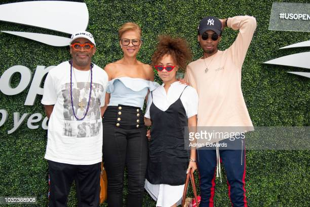 Spike Lee Tonya Lewis Lee Satchel Lee and Jackson Lee at Day 11 of the US Open held at the USTA Tennis Center on September 6 2018 in New York City
