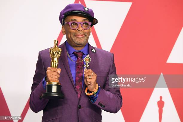Spike Lee winner Best Adapted Screenplay Award for 'BlacKkKlansman' poses in the press room during at Hollywood and Highland on February 24 2019 in...