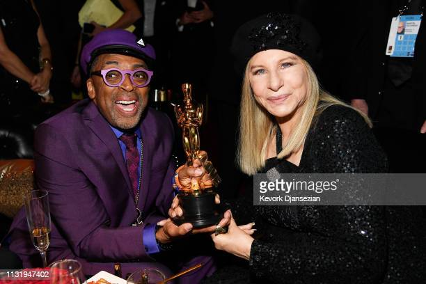 Spike Lee winner of Adapted Screenplay for ''BlacKkKlansman' and Barbra Streisand attend the 91st Annual Academy Awards Governors Ball at Hollywood...